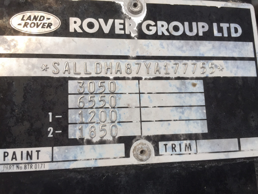 Land Rover Identification